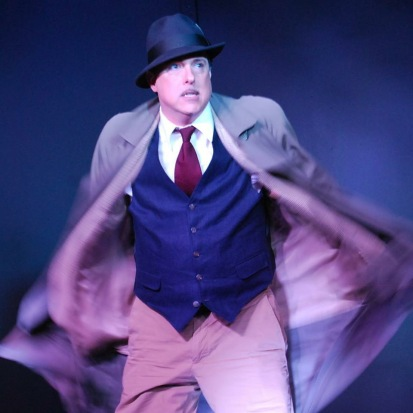 "Kevin Heath as Richard Hanny in he Limelight actor Theater production of ""The 39 Steps"" running through May 2, 2015 at Gilroy's Center for the Arts."