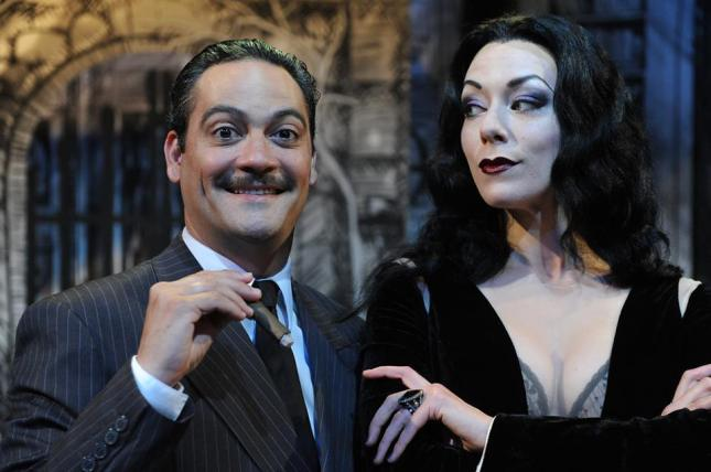 "Johnny Moreno as Gomez and Allison F. Rich as Morticia in San Jose Stage Company'sproduction of ""The Addams Family"" playing through July 26 at The Stage, First and William Streets in Downtown San Jose. Photo: Dave Lepori"