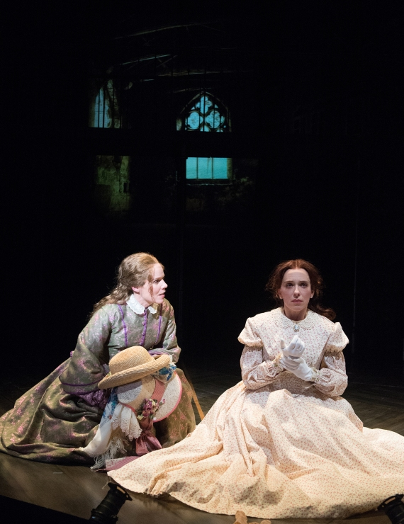 Sue Trinder (Sara Bruner, left) seeks to know more about Maud Lilly (Erica Sullivan). Photo by Jenny Graham.