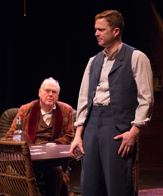 Edmund (Danforth Comins, front) considers his future choices with his father, James Tyrone (Michael Winters). Photo: Jenny Graham.