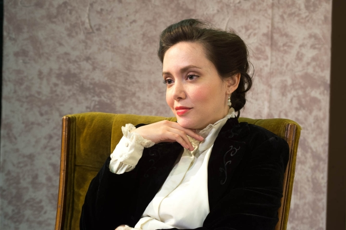 """Lorie Goulart as """"Louise"""" in """"The Underpants"""" at Northside Theatre Company running through July12 at the Olinder Theatre, 848 William Street, San Jose. Photo: Dana Grover"""