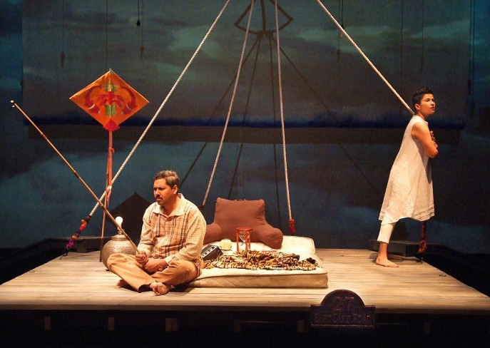 Dileep Rao and Monika Jolly in Shiv running through August 9 at Boston Court Theatre in Pasadena. Photos: Ed Krieger