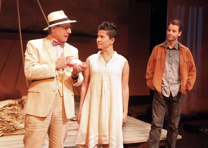 Leonard Kelly-Young, Monika Jolly and James Wagner in Shiv running through August 9 at Boston Court Theatre in Pasadena. Photos: Ed Krieger