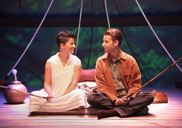 Monika Jolly and James Wagner in Shiv running through August 9 at Boston Court Theatre in Pasadena. Photos: Ed Krieger