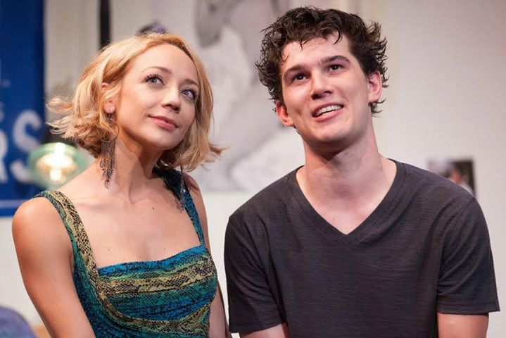"Angie (Sarah Scott) and Luka (Nick Marini) in ""Luka's Room"" running through September 20 at Rogue Machine Theatre. (www.RogueMachineTheatre.com)"