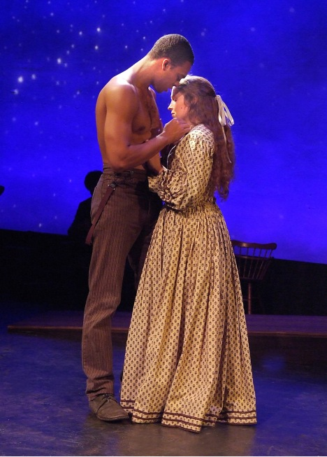 "Jason Woods and Haley McHugh in ""When Stars Align"" running through October 4 at Odyssey Theatre, 2055 Sepulveda Blvd. in Los Angeles. Photo: Ed Krieger"