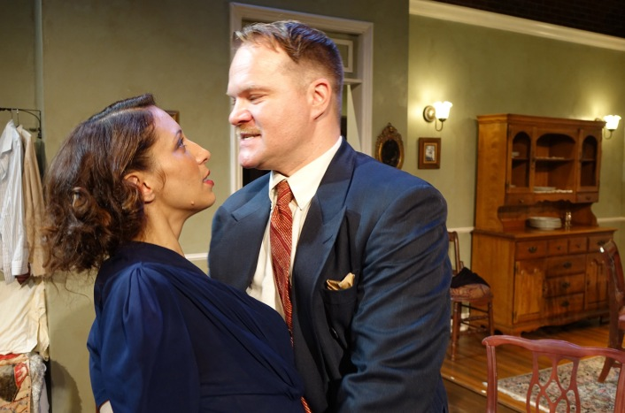 """Melissa Paladino and David Agranov in """"Awake and Sing"""" now playing through November 29 at Odyssey Theatre Ensemble, 2055 Sepulveda Blvd. in Los Angeles. Photo: Ron Sossi"""