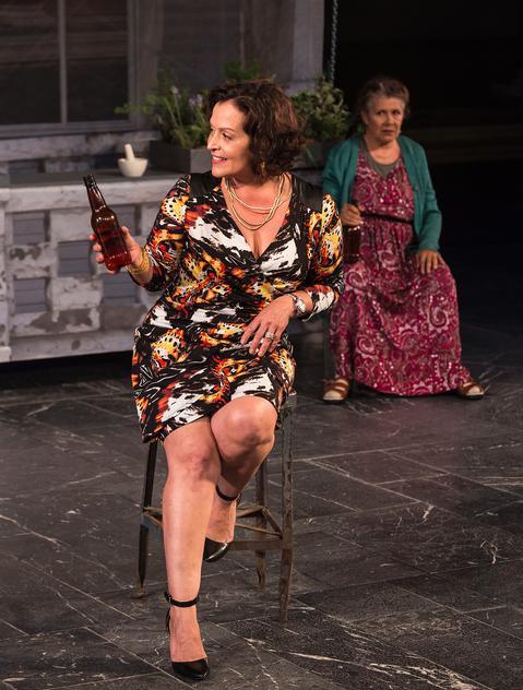 "Marlene Forte (Armida) in ""Mojada: A Medea in Los Angeles"" at the Getty Villa through October 3. Photo: Craig Schwartz"