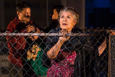 """VIVIS (Tita) in """"Mojada: A Medea in Los Angele"""" at the Getty Villa through October 3. Photo: Craig Schwartz"""