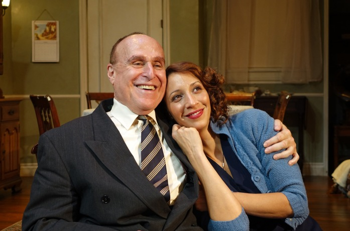 """Richard Fancy and Melissa Paladino in """"Awake and Sing"""" now playing through November 29 at Odyssey Theatre Ensemble, 2055 Sepulveda Blvd. in Los Angeles. Photo: Ron Sossi"""