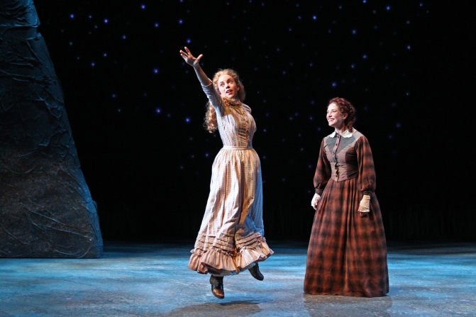 Lily Holleman and Paige Lindsey White in South Coast Repertory's 2015 production of Abundance by Beth Henley.  Photo: Debora Robinson/SCR.