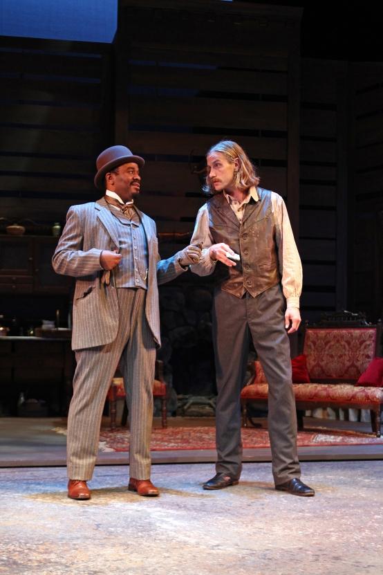 Larry Bates and Adam Haas Hunter in South Coast Repertory's 2015 production ofAbundanceby Beth Henley.  Photo: Debora Robinson/SCR.