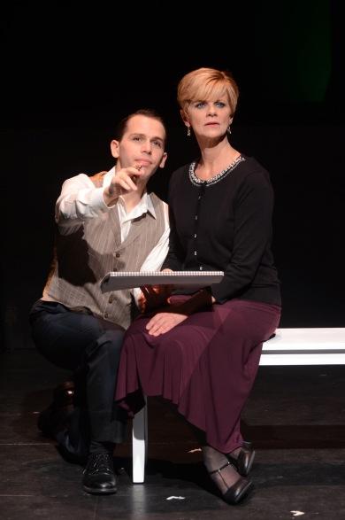 "Jake Novak and Barbara Carlton Heart in ""Sondheim on Sondheim"" now playing through November 8 at International City Theatre in Long Beach. Photo: Suzanne Mapes"