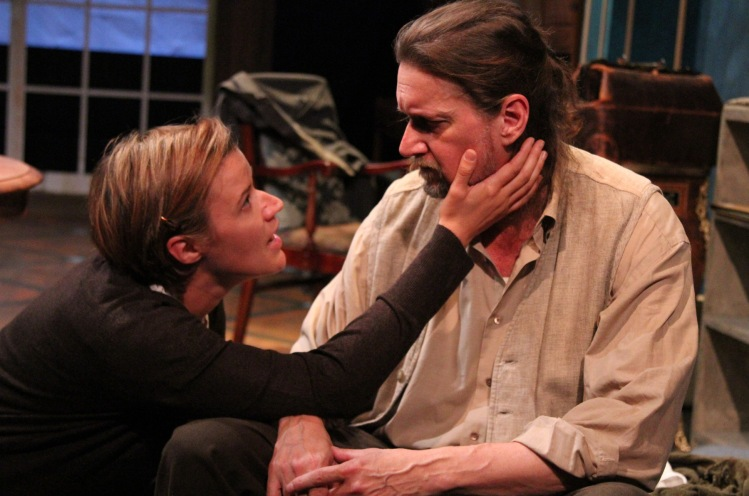 "Rebekah Tripp and Don R. McManus as Sonya and Vanya in ""Uncle Vanya"" at Antaeus Theatre Company through December 6. Photo: Karianne Flaathen"