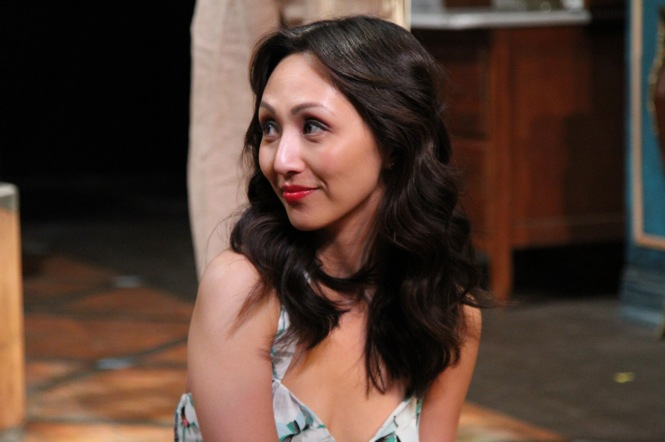 "Linda Park as Yelena in ""Uncle Vanya"" at Antaeus Theatre Company through December 6. Photo: Karianne Flaathen"