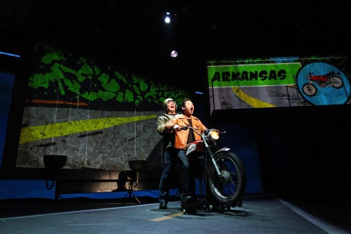 Jon Hoche and Raymond Leein South Coast Repertory's 2015 world premiere of Vietgoneby Qui Nguyen.  Photo: Debora Robinson/SCR