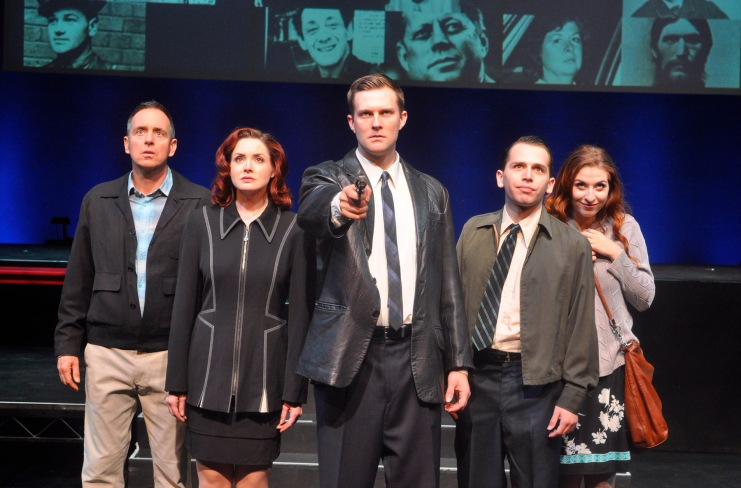 "(l. to r.)Kevin McMahon, Stephanie Fredricks, Josh Wise, Jake Novak and Shaina Knox in ""Sondheim on Sondheim"" now playing through November 8 at International City Theatre in Long Beach. Photo: Suzanne Mapes"