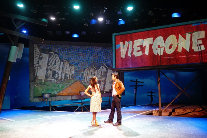 Maureen Sebastian and Raymond Lee in South Coast Repertory's 2015 world premiere of Vietgone by Qui Nguyen.  Photo: Ben Horak/SCR