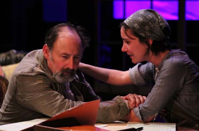 """Arye Gross and Shannon Lee Clair in """"Uncle Vanya"""" at Antaeus Theatre Company through December 6. Photo: Karianne Flaathen"""