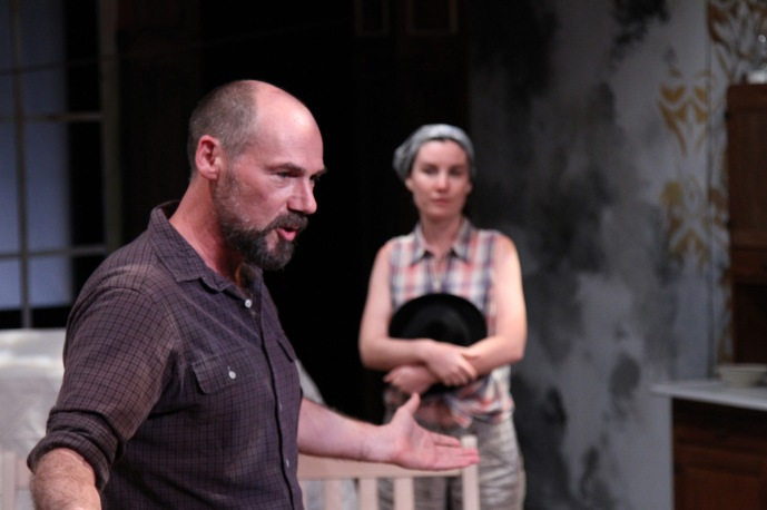 """Andrew Borba and Shannon Lee Clair in """"Uncle Vanya"""" at Antaeus Theatre Company through December 6. Photo: Karianne Flaathen"""