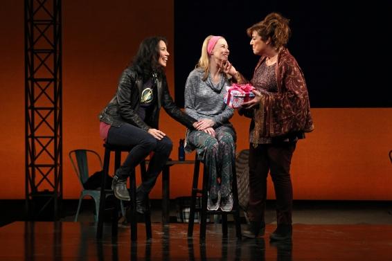 Sandra Tsign Loh, Shannon Holt and Caroline Aaron in South Coast