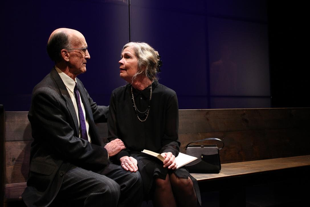 Hal Landon Jr. and Linda Gehringer in South Coast Repertory's 20