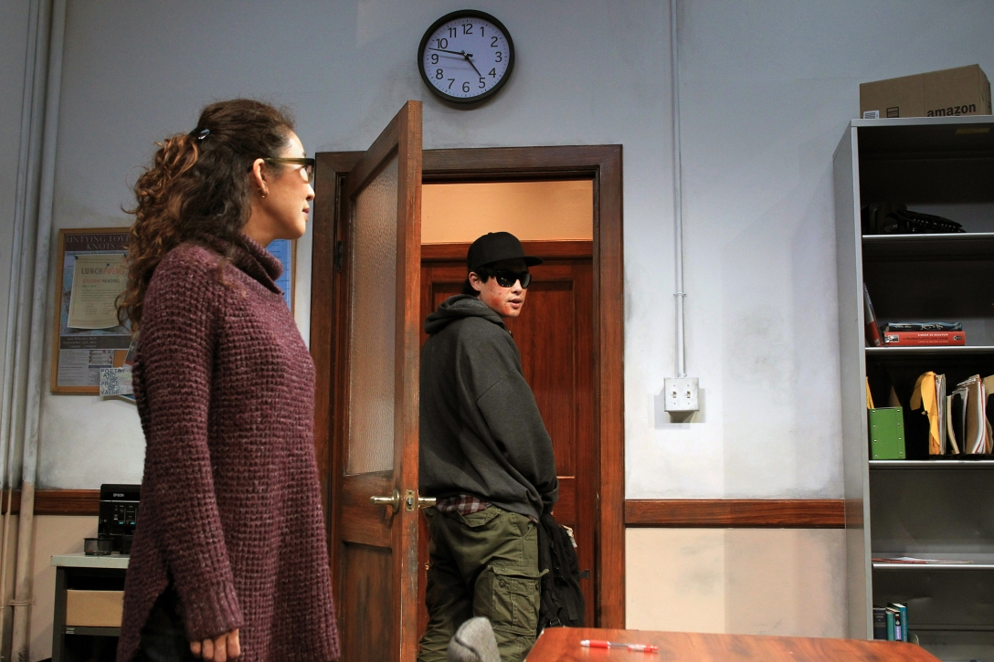 Sandra Oh and Raymond Lee in the SCR's 2016 world premiere of OF