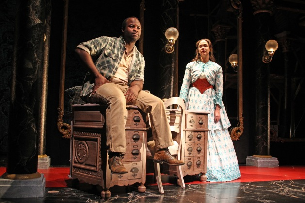 Akeem Davis and Rachel Esther Tate in SCR's 2016 production of D