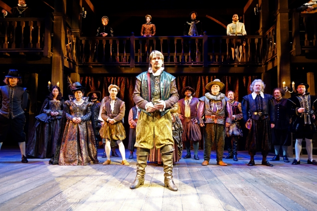 Paul David Story, center, and the cast in South Coast Repertory'