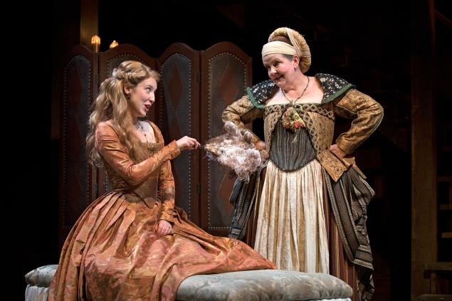 Carmela Corbett and Amelia White in South Coast Repertory's 2018