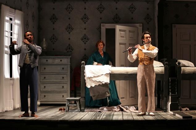 Giovanni Adams, Elyse Mirto and Daniel Bellusci in SCR's 2018 wo