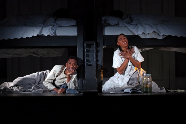 Giovanni Adams and Chauntae Pink in SCR's 2018 world premiere of
