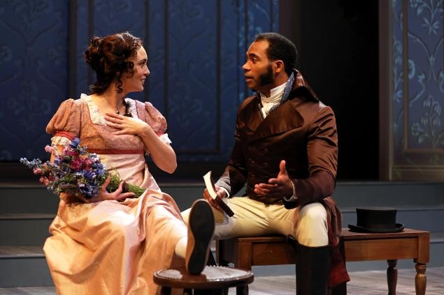 Rebecca Mozo and Preston Butler III in South Coast Repertory's 2