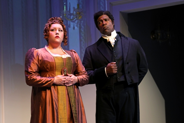 Abigail Marks and Matt Orduña in South Coast Repertory's 2018 p