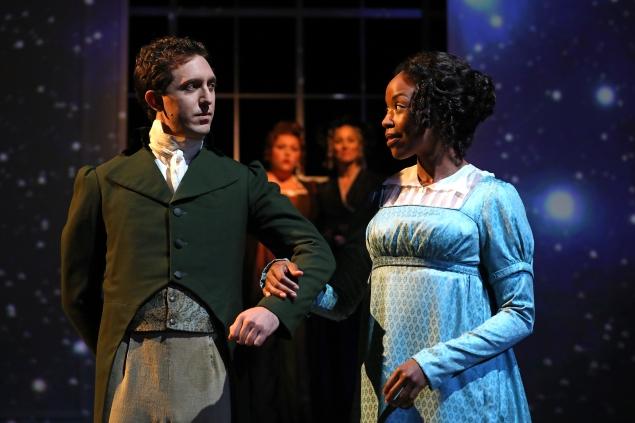 Josh Odsess-Rubin and Hilary Ward, foreground, and Abigail Marks