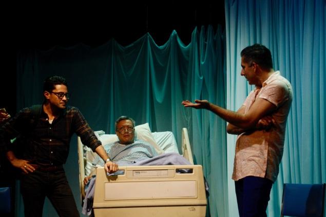 Justin Huen as Pat, Kelvin Han Yee as Dad, Sunil Malhotra as Eric