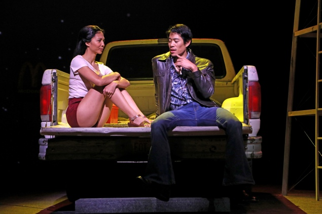 Maureen Sebastian and Tim Chiou in SCR's 2019 world premiere of