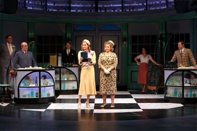 Erin Mackey and Marlene Montes and the cast in South Coast Reper